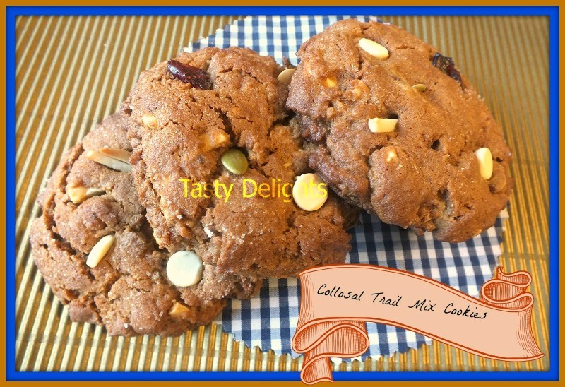 colossal trail mix cookie