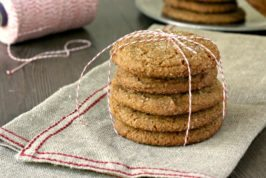 Giant ginger cookies are crunchy and chewy, the perfect crinkle top molasses cookie.