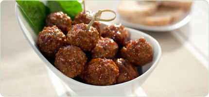 molasses meatballs in a flavourful molasses sauce.