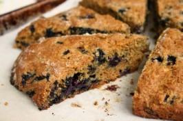 blueberry molasses scones