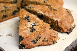 blueberry molasses scones