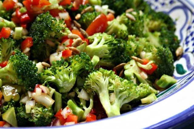 molasses marinated broccoli salad