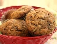 whole wheat molasses zucchini muffins