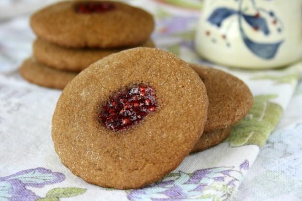 soft molasses thumbprint cookies