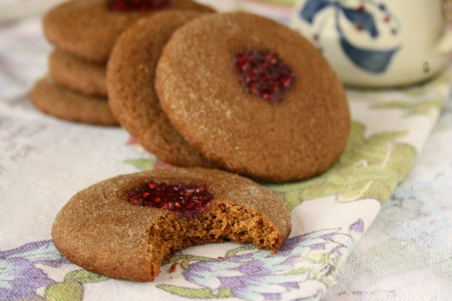 soft molasses thumbprint cookies