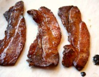 Candied molasses bacon