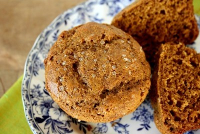 healthy gingerbread muffins made with no refined sugar