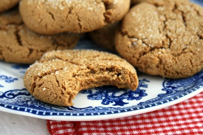ultimate molasses cookies from Ina Garten