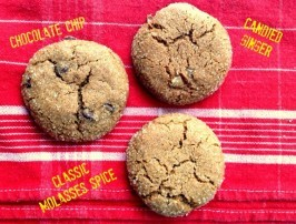 molasses spice crinkle cookies three ways