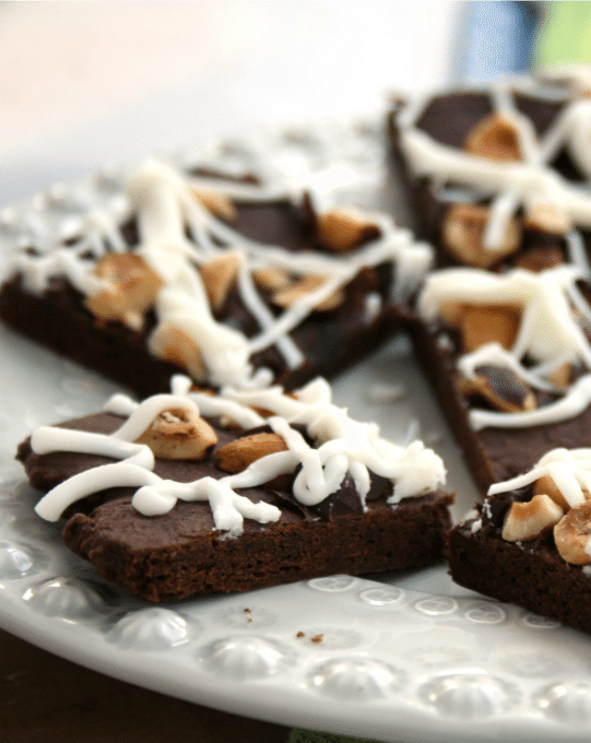 chocolate hazelnut cookie bars