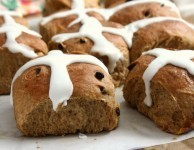 molasses hot cross buns