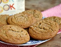 Chewy Molasses crinkle cookies