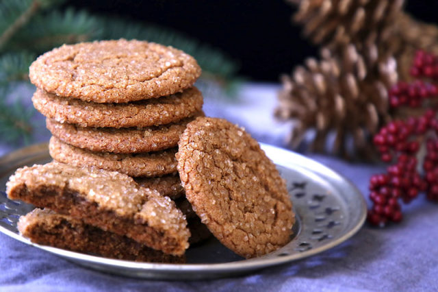 Chewy molasses crinkle cookies, the cookie recipe that won't let you down. Perfectly spiced and quick to prepare and bake, the molasses keeps them irresistibly chewy for days.