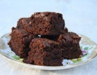 One bite molasses brownies