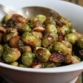 Molasses roasted Brussels sprouts