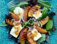 grilled nectarine salad with chipotle molasses dressing