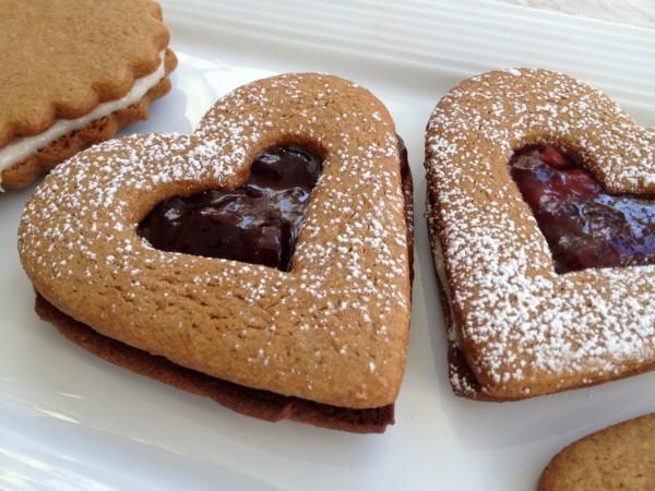 Ginger Valentine cookies