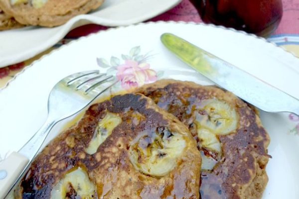 Banana oat pancakes make a wholesome and hearty breakfast
