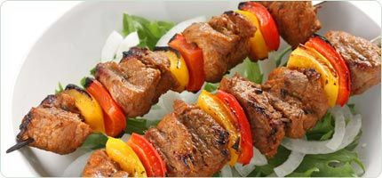 marinated pork kabobs