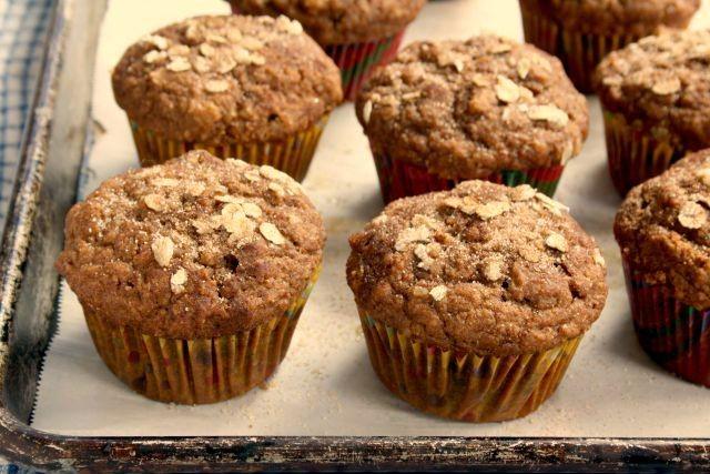 pumpkin oat molasses muffins are refined sugar-free