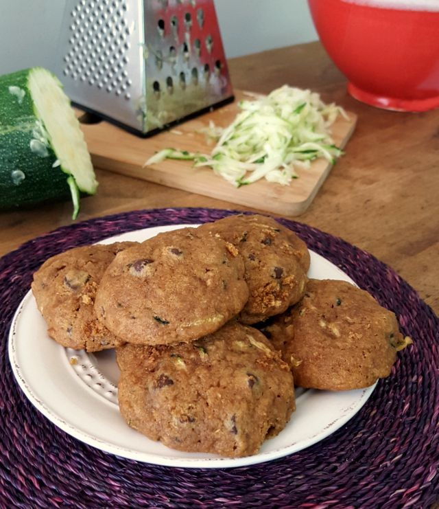 Wholesome Zucchini Chocolate Chip Cookies have a comforting cakelike texture and are studded with dark chocolate chips