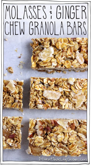 molasses and ginger chew granola bars