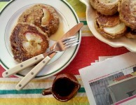 Apple oatmeal pancakes are wholesome and hearty