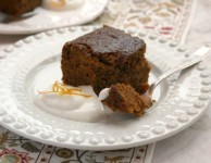 Orange spice gingerbread cake