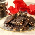 Cranberry Hazelnut Buttercrunch with Candied Ginger and dark chocolate