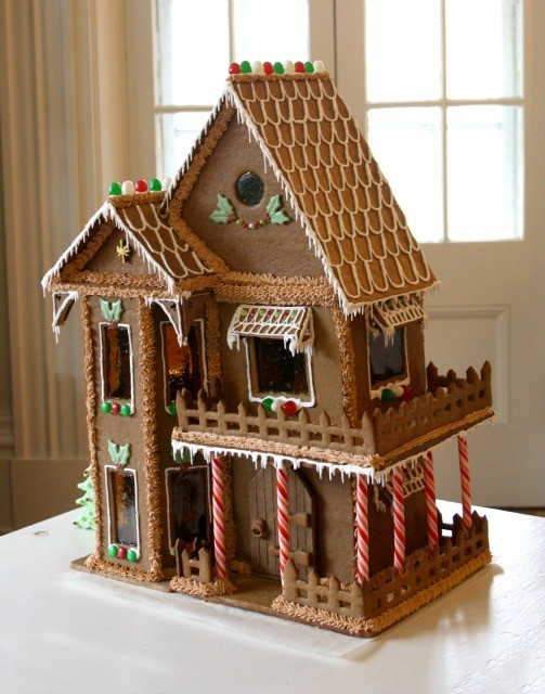 How to make a gingerbread house tips recipes crosby for How do you make a gingerbread house