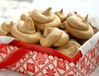 Molasses Walnut Meringues duested with gingerbread spices