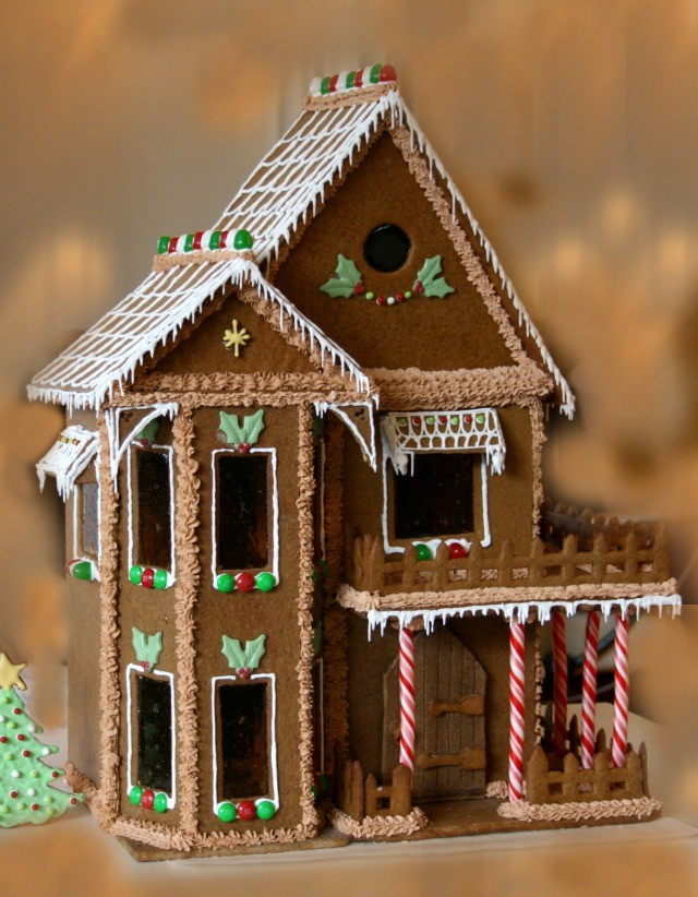 It is a graphic of Gingerbread House Templates Printable pertaining to cardboard