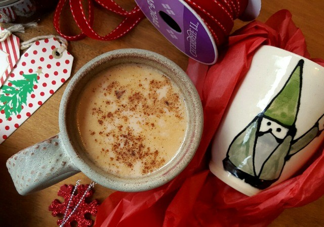 warm milk with gingerbread spices and molasses