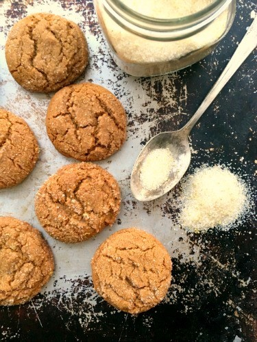 Bakery style molasses cookies are the easiest cookie recipe ever. You mix everything in a single pot and the dough requires no chilling. These gorgeous crinkle cookies travel well so make great lunch box cookies. And it's the perfect recipe for kids to bake on their own.