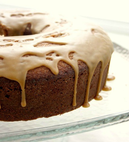 Molasses Pound Cake is a beautifully textured cake with a doughnut-style glaze and buttery molasses flavour.