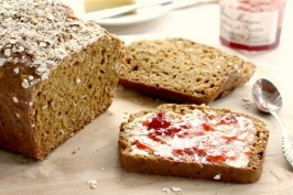 Brown soda bread is a moist oatmeal quick bread sweetened with molasses. This is a very close cousin of a classic Irish soda bread.