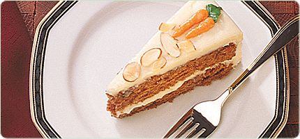 Carrot cake with molasses