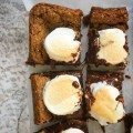 Molasses Oat Blondies for Oven-baked S'Mores