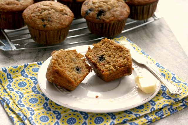 Multi Grain Blueberry Carrot Muffins are wholesome and delicious, stuffed with all sorts of nourishing things.