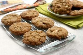 Molasses trail mix cookies are a sweet, wholesome treat. A classic molasses cookie with orange zest and filled with trail mix