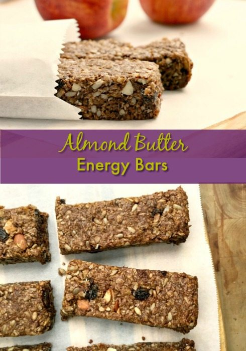Packed with protein, fibre and lots of flavour, Almond Butter Energy Bars bars are perfect for those days when you're on the go.
