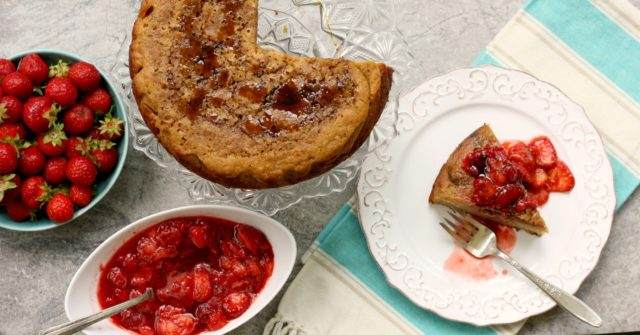 Sweet cornbread cake recipe with summer berries is extra moist and delicious.