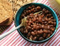 Molasses Baked Beans with a touch of sass. An old fashioned New England Style recipe