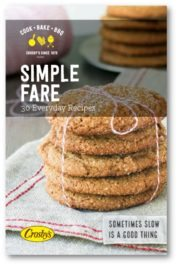 Simple Fare - 30 everyday recipes to share with family and friends. Free eBook.