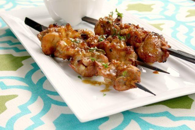 Kébabs au poulet au gingembre