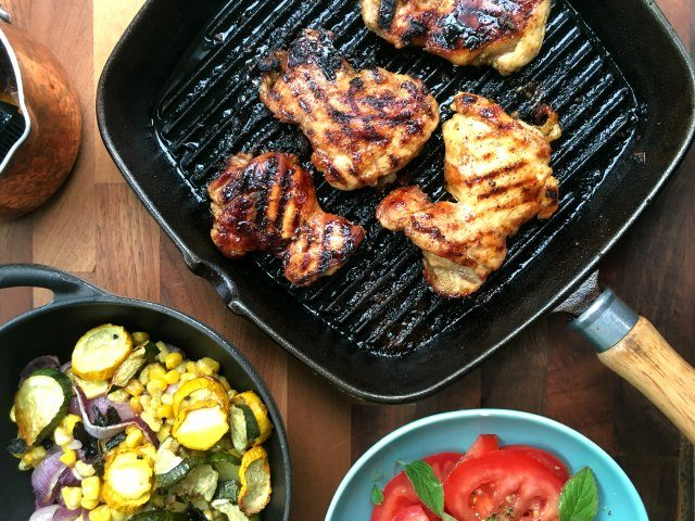 Mexican Molasses Lime Grilled Chicken recipe is an easy chicken dish with pizazz. It's perfect for your weekend barbecue but is quick enough for a weeknight. The recipe uses boneless, skinless chicken thighs, which I find are more moist and flavourful than chicken breasts, and cheaper too.