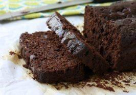 Double chocolate whole wheat zucchini bread