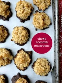 Chewy Coconut Macroons are easy to make, low cal and low carb.