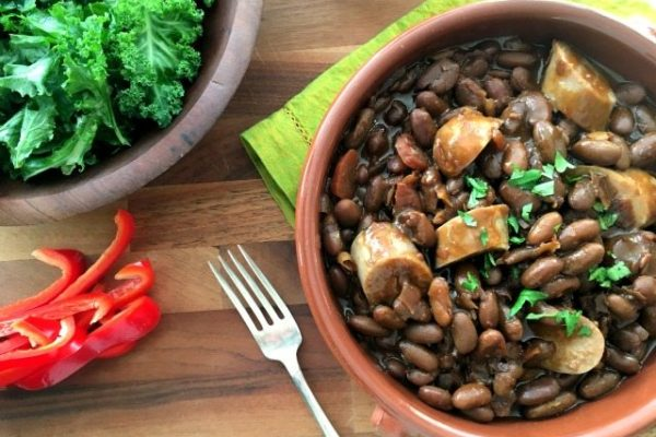 slow cooker baked beans with sausage 2 sm