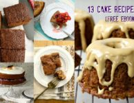13 cake recipes in a free eBook